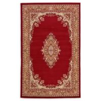 Unique Loom Washington Mashad 5' X 8' Powerloomed Area Rug in Burgundy