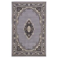 Unique Loom Washington Mashad 5' X 8' Powerloomed Area Rug in Gray