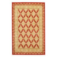 Unique Loom Zinnia Heritage 5' X 8' Powerloomed Area Rug in Red