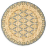 Unique Loom Zinnia Heritage 6' Round Powerloomed Area Rug in Blue