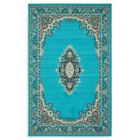 Unique Loom Washington Mashad 5' X 8' Powerloomed Area Rug in Turquoise