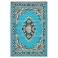 Unique Loom Washington Mashad 6' X 9' Powerloomed Area Rug in Turquoise