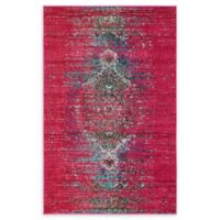 Unique Loom Warhol Arte 4' X 6' Powerloomed Area Rug in Pink