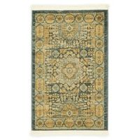 Unique Loom Washington Palace 2' X 3' Powerloomed Area Rug in Blue