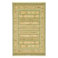 Unique Loom Viceroy Nomad 5' X 8' Powerloomed Area Rug in Light Green