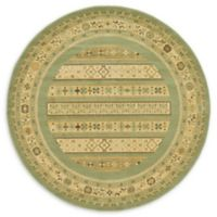 Unique Loom Viceroy Nomad 6' Round Powerloomed Area Rug in Light Green