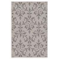 "Unique Loom Victorian Outdoor 3'3"" X 5' Powerloomed Area Rug in Gray"