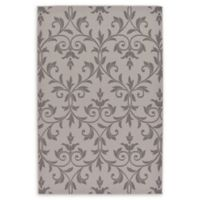 "Unique Loom Victorian Outdoor 5'3"" X 8' Powerloomed Area Rug in Gray"