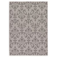 Unique Loom Victorian Outdoor 7' X 10' Powerloomed Area Rug in Gray