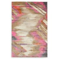Unique Loom Trosa Stockholm 5' X 8' Powerloomed Area Rug in Beige/pink
