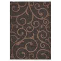 Unique Loom Vine Outdoor 6' X 9' Powerloomed Area Rug in Chocolate Brown