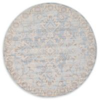 Unique Loom Willow Kensington 6' Round Powerloomed Area Rug in Light Blue