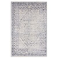 Unique Loom Wilson Villa 4' X 6' Powerloomed Area Rug in Dark Blue