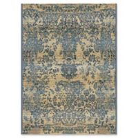 Unique Loom Outdoor Vintage 2' x 3' Accent Rug in Blue