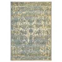 Unique Loom Outdoor Vintage 4' x 6' Area Rug in Blue