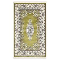 Unique Loom Windsor Nain Design 3' X 5' Powerloomed Area Rug in Green