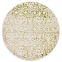 Unique Loom Tyche Arcadia 6' Round Powerloomed Area Rug in Light Green