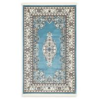Unique Loom Windsor Nain Design 3' X 5' Powerloomed Area Rug in Blue
