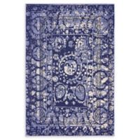 Unique Loom Vintage La Jolla 4' X 6' Powerloomed Area Rug in Blue