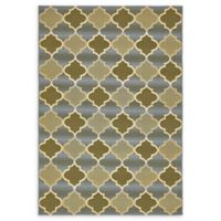 "Unique Loom Trellis Eden Outdoor 5'3"" X 8' Powerloomed Area Rug in Beige"