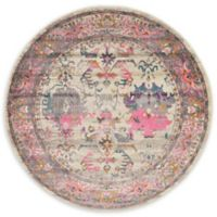 Unique Loom Tidaholm Stockholm 6' Round Powerloomed Area Rug in Beige