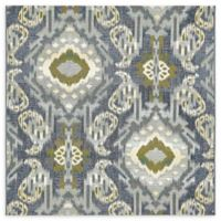 Unique Loom Union Eden Outdoor 6' X 6' Powerloomed Area Rug in Blue