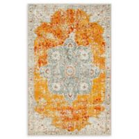 Unique Loom Violino Venice 4' X 6' Powerloomed Area Rug in Orange