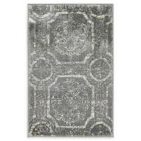 Unique Loom Visby Stockholm 2' X 3' Powerloomed Area Rug in Dark Gray