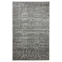 Unique Loom Visby Stockholm 5' X 8' Powerloomed Area Rug in Dark Gray