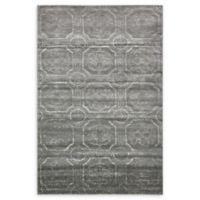 Unique Loom Visby Stockholm 6' X 9' Powerloomed Area Rug in Dark Gray