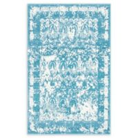 Unique Loom Vivaldi Venice 4' X 6' Powerloomed Area Rug in Blue