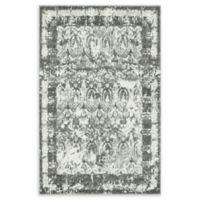 Unique Loom San Marco Venice 4' X 6' Powerloomed Area Rug in Gray