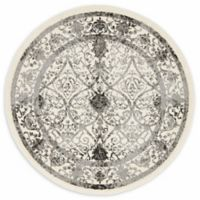 """Unique Loom Traditional La Jolla 3'3"""" Round Powerloomed Area Rug in Ivory"""