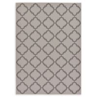 Unique Loom Trellis Outdoor 7' X 10' Powerloomed Area Rug in Gray