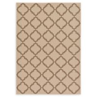 Unique Loom Trellis Outdoor 7' X 10' Powerloomed Area Rug in Beige