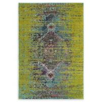 Unique Loom Warhol Arte 4' X 6' Powerloomed Area Rug in Green
