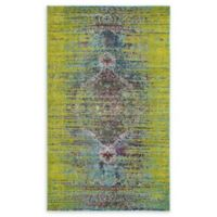 Unique Loom Warhol Arte 5' X 8' Powerloomed Area Rug in Green