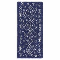 "Unique Loom Tribal Marrakesh Shag 2'7"" X 6' Runner Powerloomed in Navy"