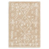 Unique Loom Tribal Marrakesh Shag 4' X 6' Powerloomed Area Rug in Taupe