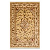 "Unique Loom Traditional Naples 6'7"" X 9'10"" Powerloomed Area Rug in Beige"