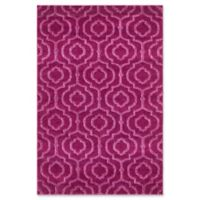 Unique Loom Traditional Trellis Frieze 4' x 6' Area Rug in Violet