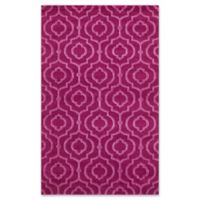 Unique Loom Traditional Trellis Frieze 5' x 8' Area Rug in Violet