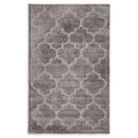 Unique Loom Traditional Trellis Shag 5' X 8' Powerloomed Area Rug in Dark Gray