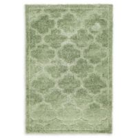 Unique Loom Traditional Trellis Shag 4' X 6' Powerloomed Area Rug in Green