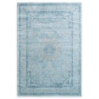 "Dynamic Rugs® Medallion 2' X 3'5"" Powerloomed Area Rug in Light Blue"
