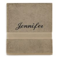 Wamsutta® Personalized Icon PimaCott® Bath Sheet in Linen