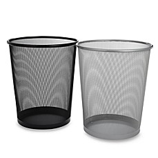 mesh metal wastebasket - bed bath & beyond