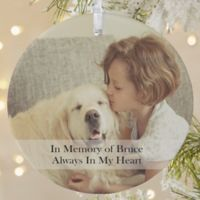 Pet Photo Memories 1-Sided Matte Christmas Ornament