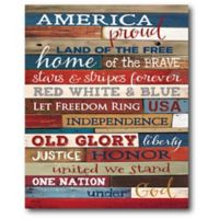 """Courtside Market """"Land of the Free"""" Canvas Wall Art"""