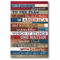 """Courtside Market """"Pledge of Allegiance"""" Canvas Wall Art"""